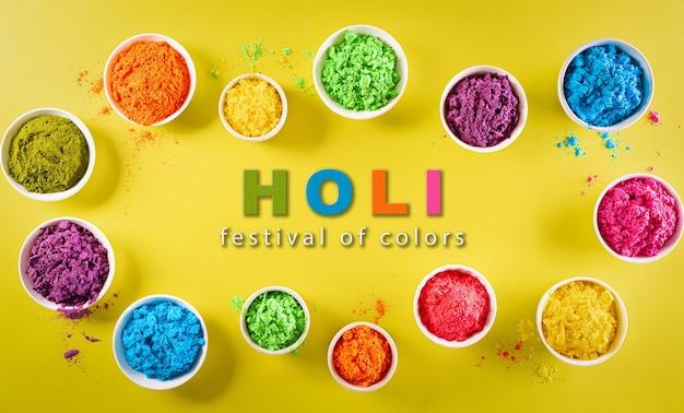 Feliz decoración del festival holi