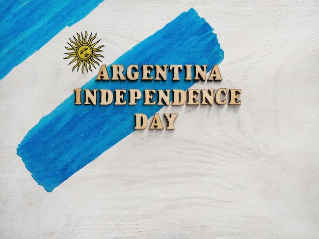 Feliz día de la independencia. hermosa tarjeta de felicitación de cerca