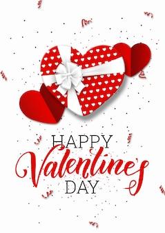 Feliz día de san valentín festivo banner web.