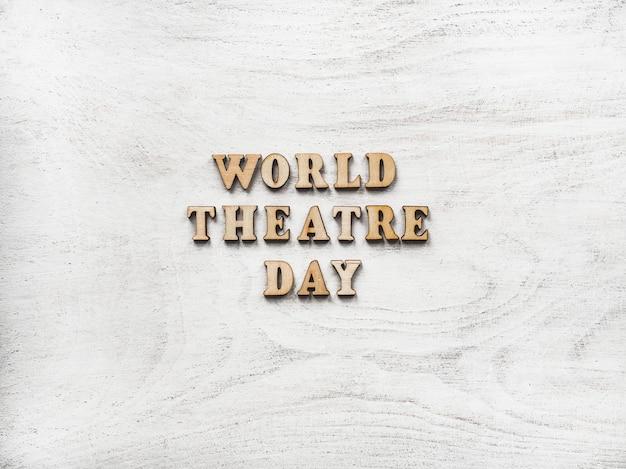Feliz día del teatro de fondo