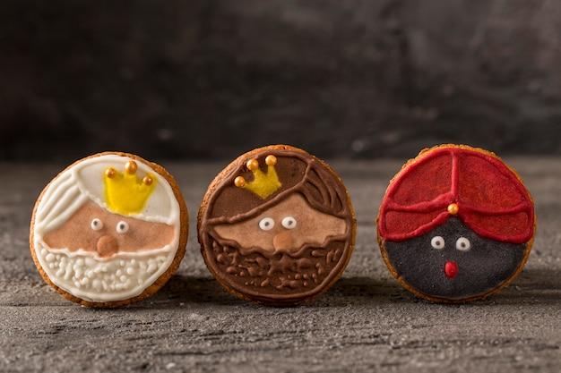 Feliz epifanía sabrosas galletas