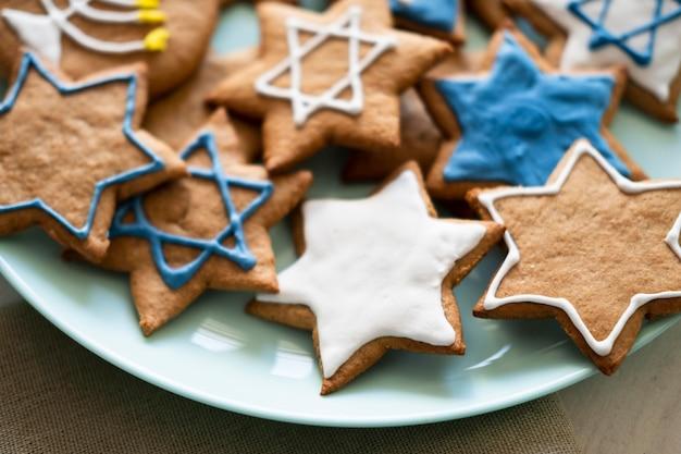 Feliz fiesta de hanukkah estrella de david