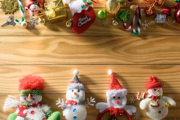 Feliz navidad y feliz año nuevo concepto otra decoración