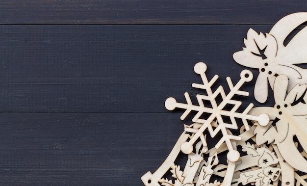 Feliz navidad y feliz año nuevo fondo con copyspace