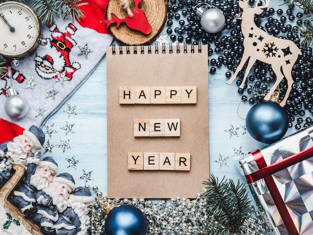 Feliz navidad y próspero año nuevo, hermosa tarjeta