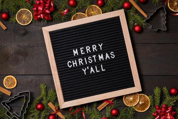 Feliz navidad y 'todo el tablero de la carta