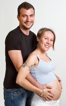 Feliz padre y madre para ser