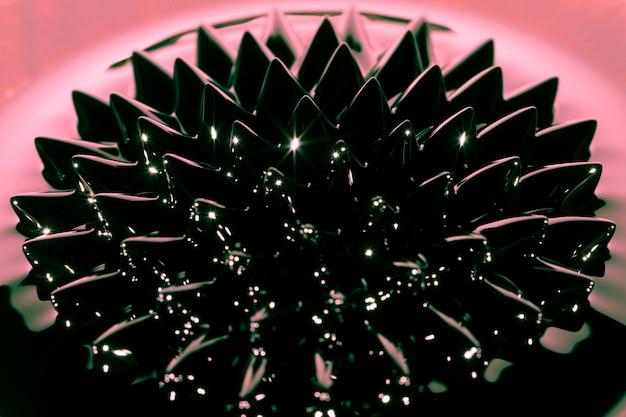 Fenómeno de fluido ferromagnético de alta vista