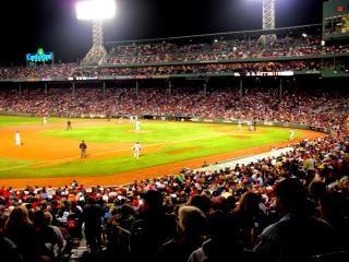 Fenway partido de béisbol, campo