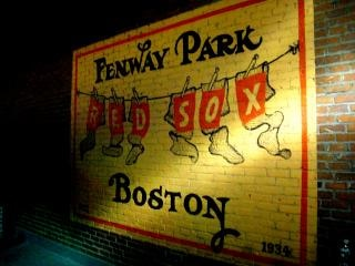 Fenway partido de béisbol, juego de pelota