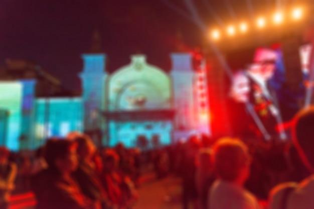 Festival de concierto espectáculo tema desenfoque de fondo
