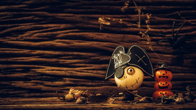 Festival de halloween juguetes de fantasmas de piratas y calabazas de muñecas cabeza encantada espeluznante