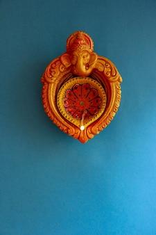 Festival indio diwali, lámpara diwali