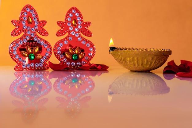 Festival indio de diwali, lámpara de diwali