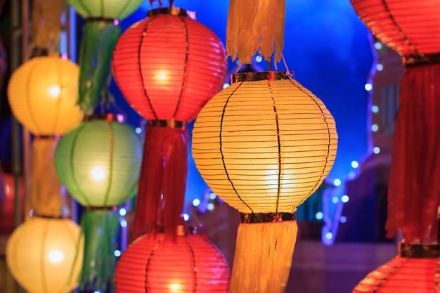 Festival de linternas asiáticas, chiangmai tailandia.