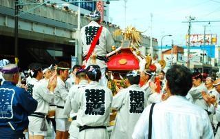 Festival matsuri, calle