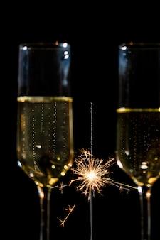 Fiesta de año nuevo con champaña