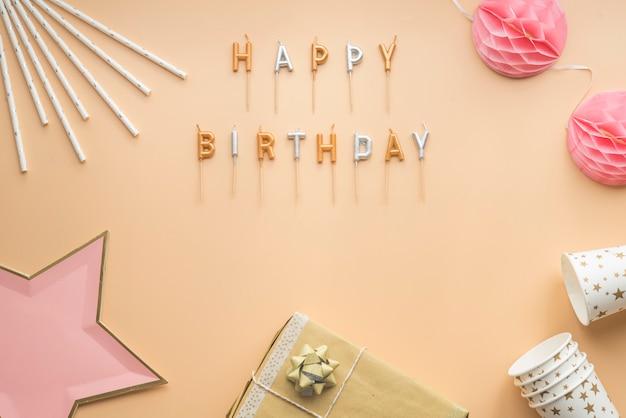 Fiesta celebración feliz cumpleaños fondo