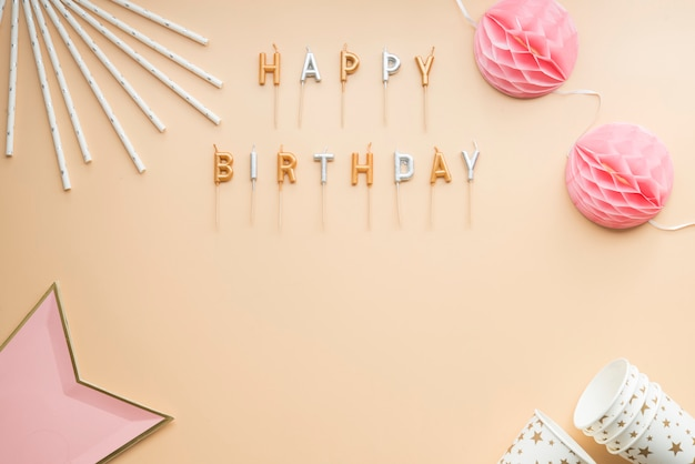 Fiesta celebración feliz cumpleaños marco fondo