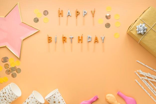 Fiesta celebración feliz cumpleaños marco