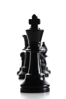 Figura de ajedrez aislada sobre fondo blanco