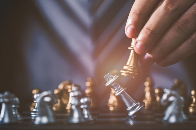 Figura de ajedrez de negocios