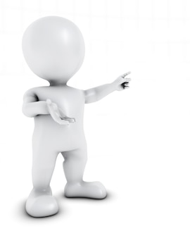 Figura moderna presentando