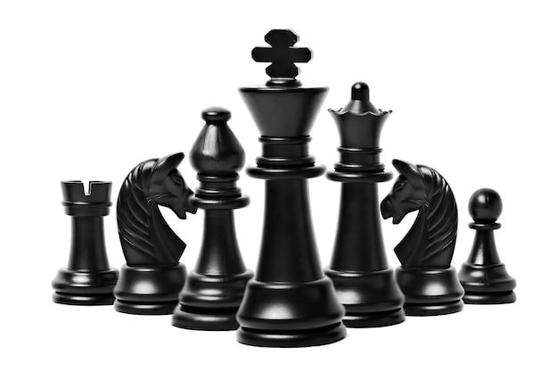 Figuras de ajedrez aisladas
