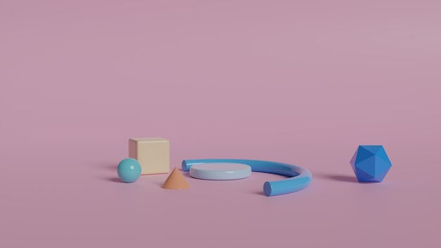 Figuras geométricas abstractas minimalistas