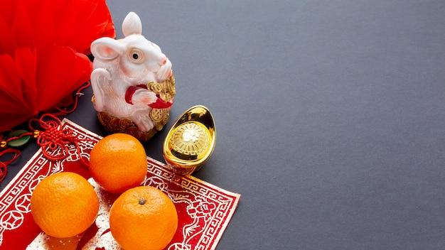 Figurita de rata año nuevo chino