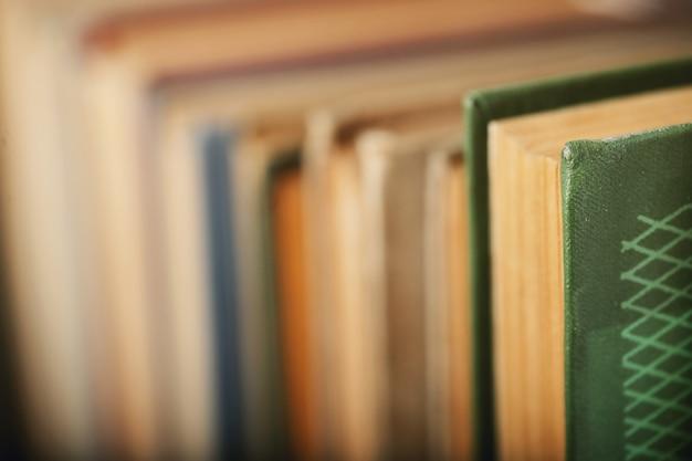 Fila de libros, concepto de literatura