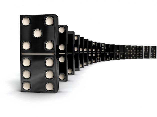 Fila de piezas domin