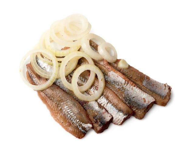 Filete de anchoa con aros de cebolla