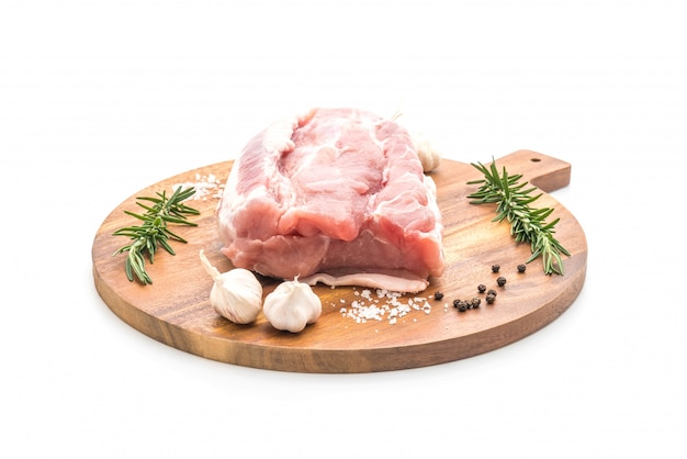 Filete de cerdo fresco crudo