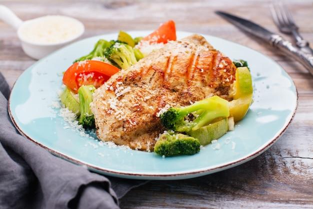 Filete de pavo a la plancha con verduras