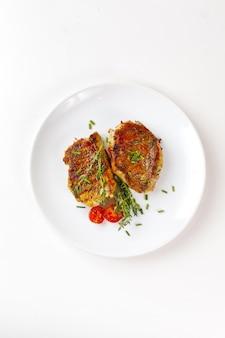 Filetes de carne de cerdo asada fresca