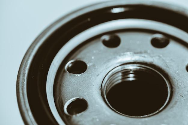 Filtro de aceite de cerca. ilustraciones de la pieza de automóvil