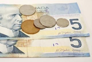 Las finanzas canadiense de dinero