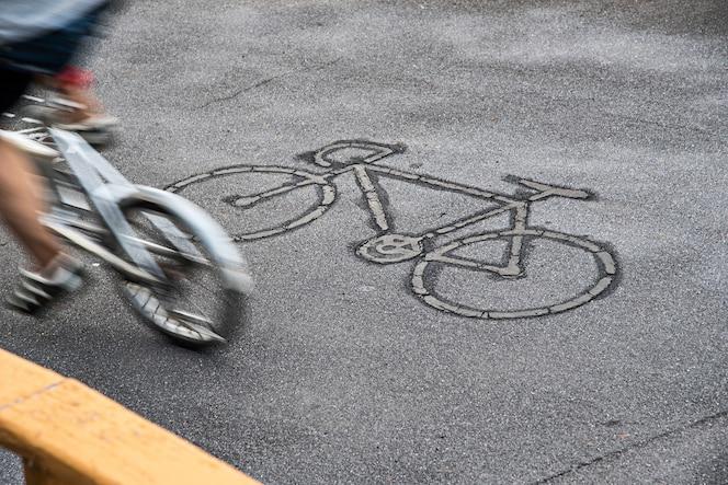 Firmar en carril para bicicletas