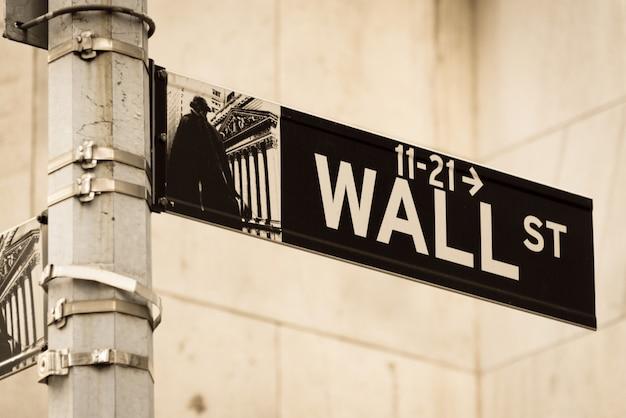 Firmar en el wall street