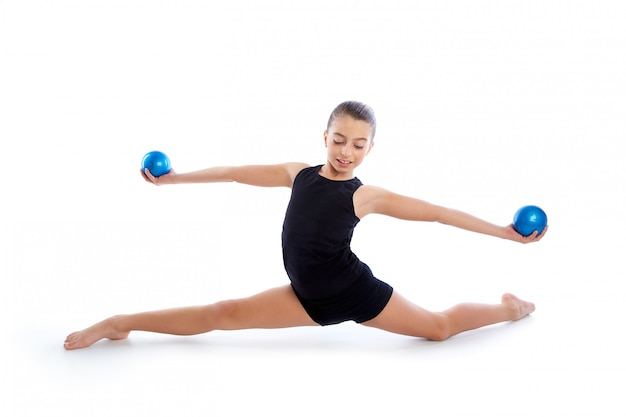 Fitness ponderado pilates bolas niño niña ejercicio