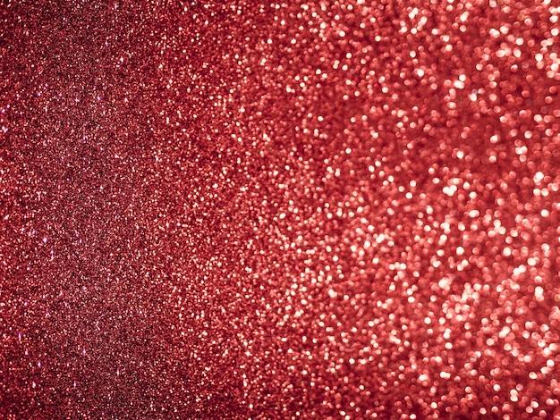 Flat lay red glitter