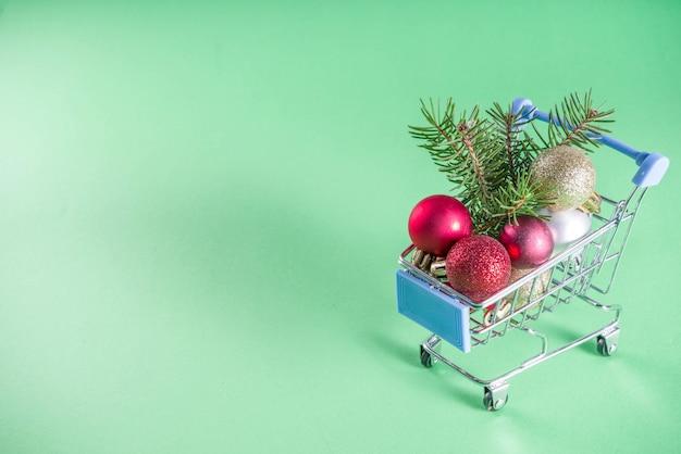Flatlay de compras creativas