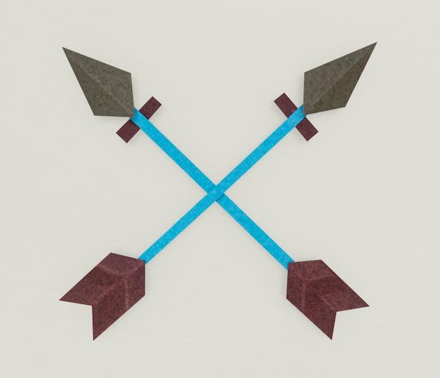 Flecha, arco, dirección, icono, símbolo