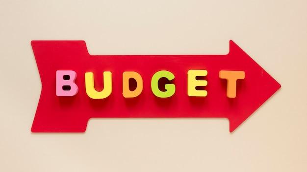 Flecha con presupuesto