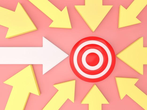 Flechas fondo dirección objetivo traget negocio plantilla pastel idea