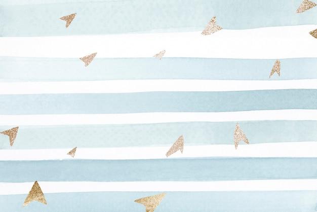 Flechas de oro relucientes en un rayado