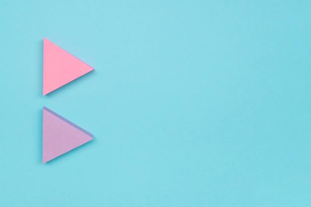 Flechas rosas claras con espacio de copia