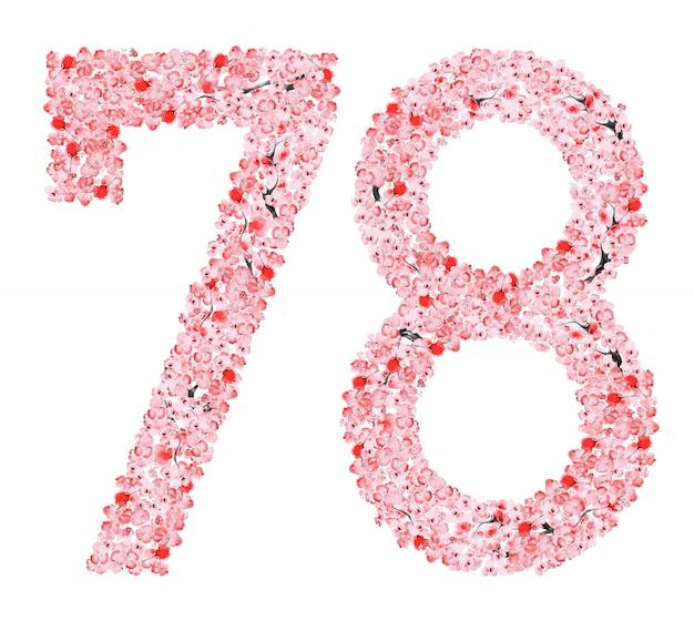 Flor de sakura numero 7 8