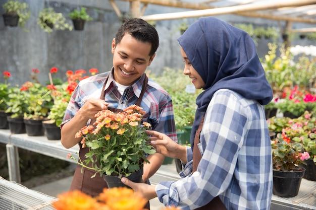 Floreria asiática masculina y femenina
